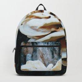 Rose like mushroom on old tree Backpack