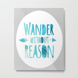 wander without reason in blue Metal Print
