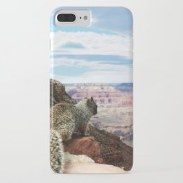 Squirrel Overlooking Grand Canyon iPhone Case