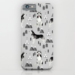 Husky siberian huskies mountains pet portrait dog dogs pet friendly dog breeds gifts iPhone Case