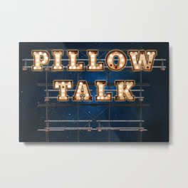 Pillow Talk - Hotel - Wall-Art for Hotel-Rooms Metal Print