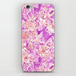 TROPICAL FLAIR Pink Watercolor Floral iPhone Skin