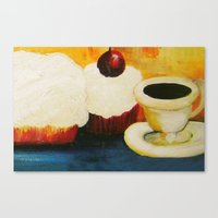 dessert Canvas Prints featuring Dessert! by Jennifer Maroney