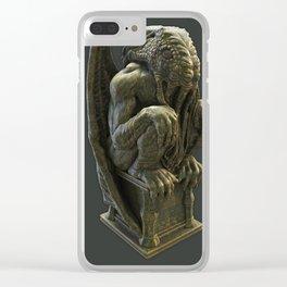 Cthulhu Statuette II Clear iPhone Case