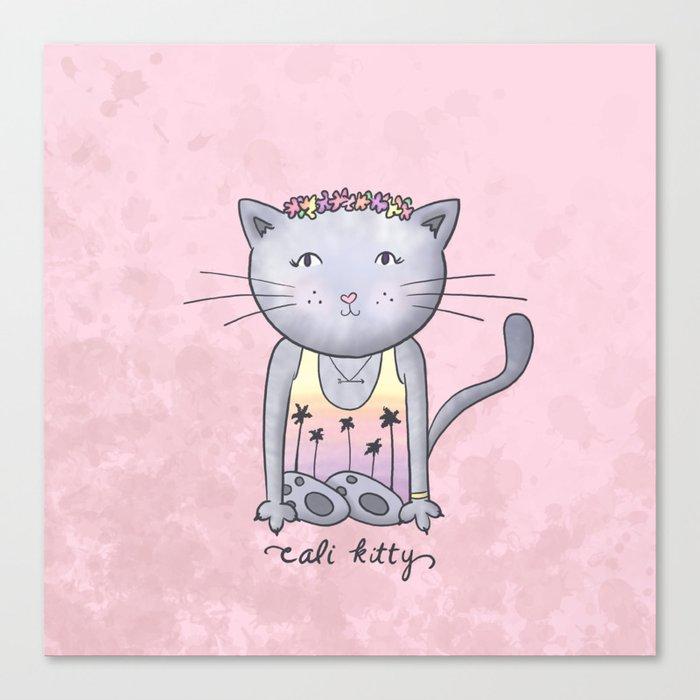 Cali Kitty Canvas Print