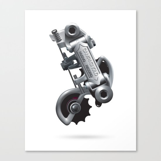 Nuvo Record Rear Derailleur Canvas Print