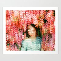 mercedes Art Prints featuring Mercedes Esquivel  by parkerwoods