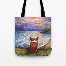 Corgi - sunset adorer Tote Bag