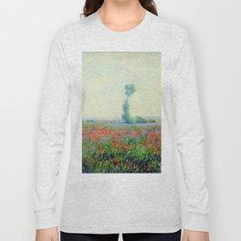 """Claude Monet """"Poppy Field"""", 1881 Long Sleeve T-shirt"""