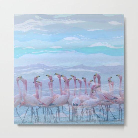 Flamingos #7, fun design Metal Print