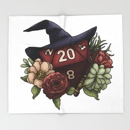 Wizard Class D20 - Tabletop Gaming Dice Throw Blanket