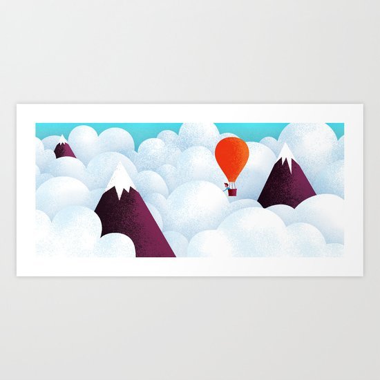 The taste of clouds Art Print
