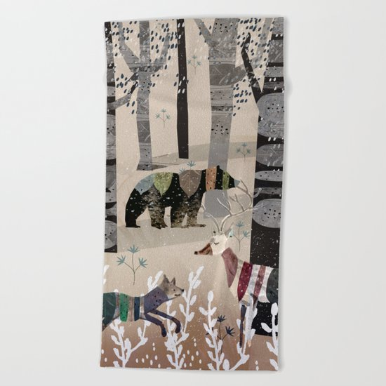 Forest in Sweater Beach Towel