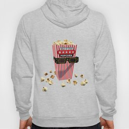 Buttered Popcorn and 3D Movie glasses Hoody