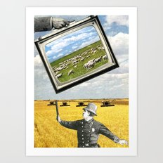 The Battlefield Of Today Art Print