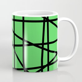 Doodle (Black & Green) Coffee Mug