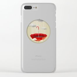 Saving the rain Clear iPhone Case
