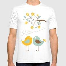 Love birds Mens Fitted Tee MEDIUM White