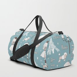 Paris Girl - Blue Duffle Bag