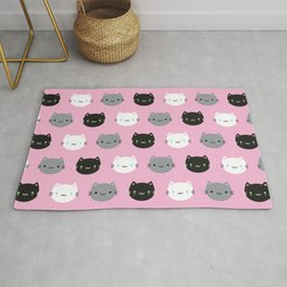 Cute Cats & Kawaii Kittens (Pink) Rug