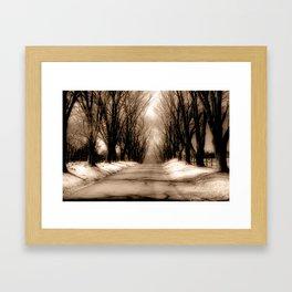 Country Lane Framed Art Print