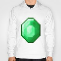 emerald Hoodies featuring Emerald by Masonicz