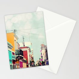 Colorful Buildings of Old San Juan, Puerto Rico Stationery Cards