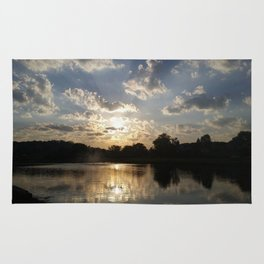 Water Fountain Sunset Rug