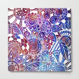 Mythical Doodle Metal Print