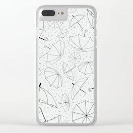 Umbrella Pattern Clear iPhone Case
