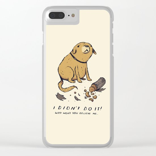 guilty dog Clear iPhone Case