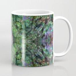 """The Owls flight"" reflection of moss covered stump Coffee Mug"