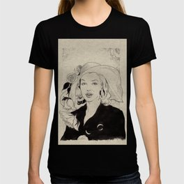 Portrait of a Lady with Flowers T-shirt