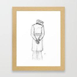 Flat Cap Man Framed Art Print