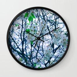Cherry Blossom (Blue) Wall Clock