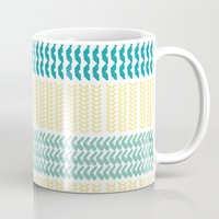 knit Mugs featuring Knit Pattern by K&C Design