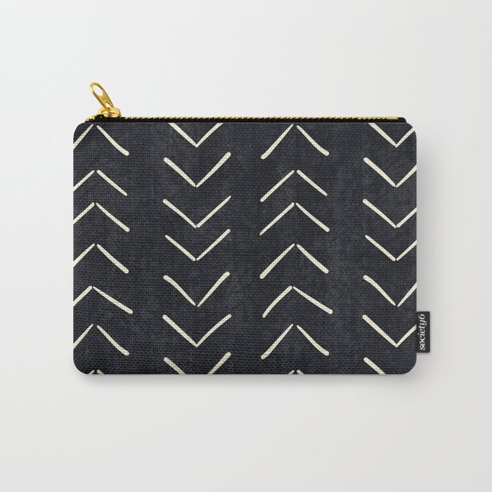 Mudcloth Big Arrows in Black and White Tasche