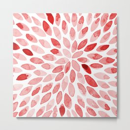 Watercolor brush strokes - red Metal Print