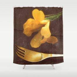 Flowers on Slate, variation 3 Shower Curtain