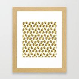 Butter Yellow Pansies Pattern Framed Art Print