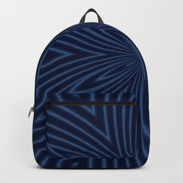 Classic Blue And Navy Goemetric Pattern Backpack