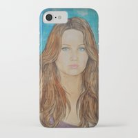 jennifer lawrence iPhone & iPod Cases featuring Jennifer Lawrence by Jenn