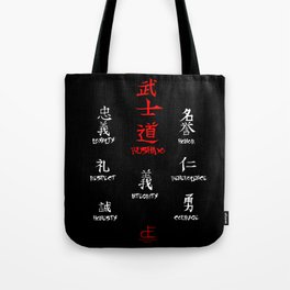 Bushido and the Seven Virtues Tote Bag