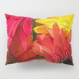 Sunny Daisy Flower Art Pillow Sham