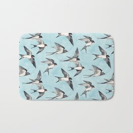 Blue Sky Swallow Flight Bath Mat