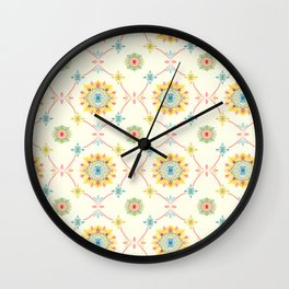 Vintage Peranakan Tiles Wall Clock