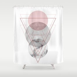 Visions Raspberry Frost Shower Curtain