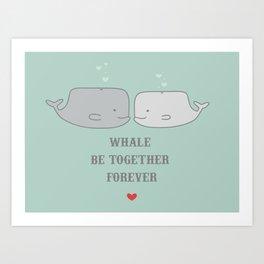 Whale Be Art Print