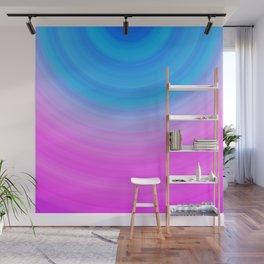 Pink & Blue Circles Wall Mural