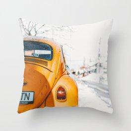 Yellow Taxi (Color) Throw Pillow